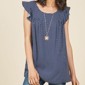 Fervour Modcloth Lovely and Ruffly Sleeveless Top